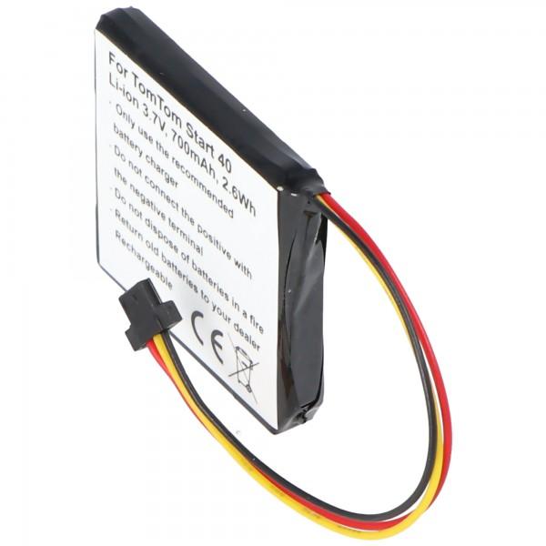 Batterij geschikt voor de TomTom Start 40 Europa batterij VF3S