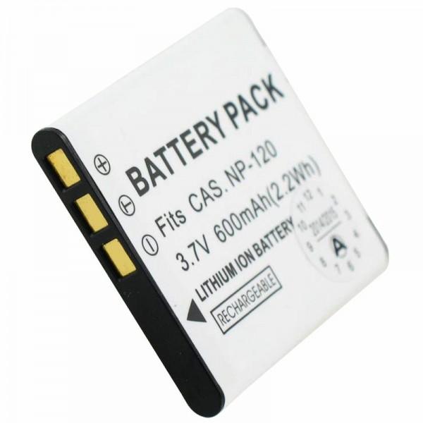 Batterij geschikt voor Casio NP-120 batterij EXILIM EX-S200