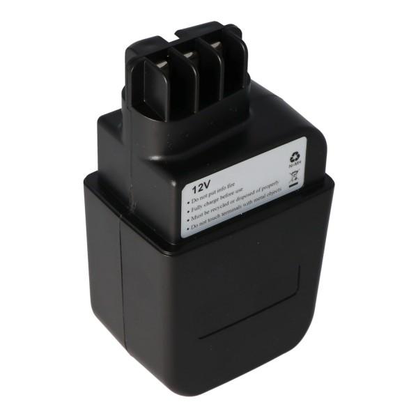 AccuCell-batterij geschikt voor Metabo 630073 batterij 12Volt 3.0Ah NiMH