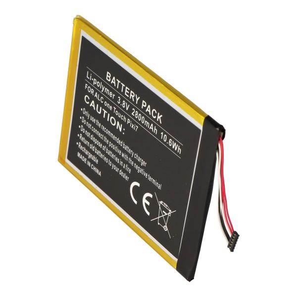 Accu geschikt voor Alcatel One Touch Pixi 7, TLp028AD 3.8 volt 2800mAh