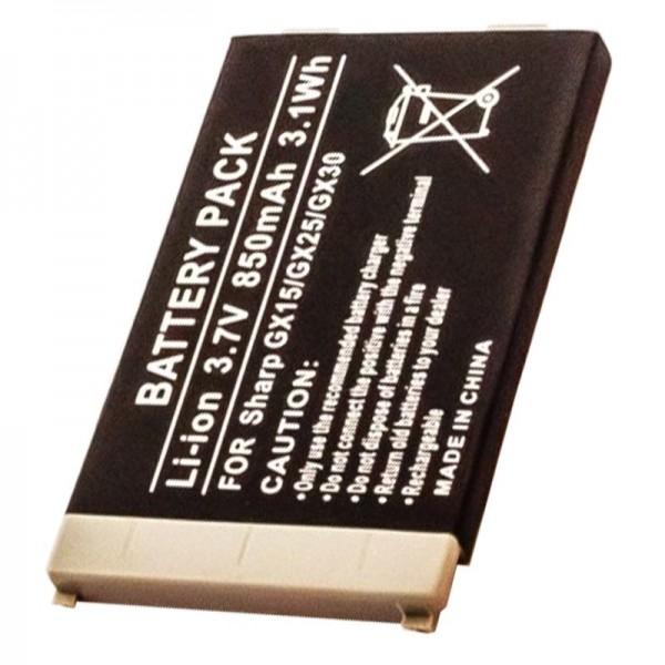 AccuCell-batterij geschikt voor Sharp GX15, GX25, GX30, GX30i, 850mAh