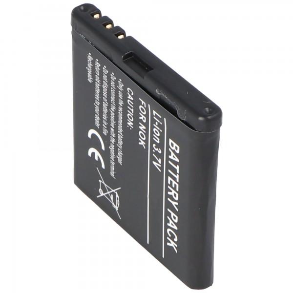 AccuCell-batterij geschikt voor Nokia 5700, BP-5M