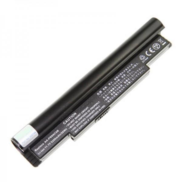AccuCell-batterij voor netbook type AA-PB8NC6B 7200mAh zwart