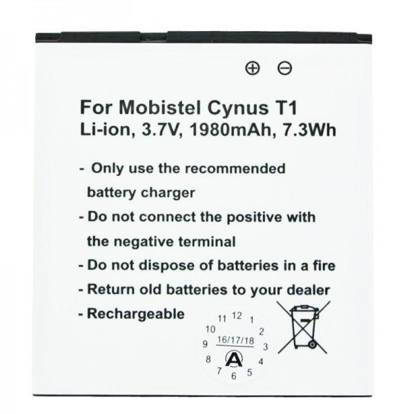 MOBISTEL Cynus T1-batterij als replica van Accucell geschikt voor BTY26179, BTY26179MOBISTEL / STD