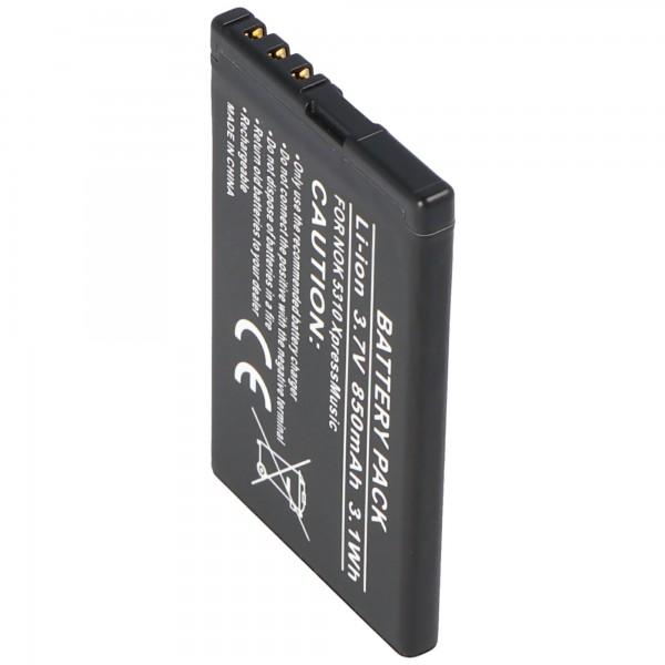 AccuCell-batterij geschikt voor Nokia 7310 Supernova, BL-4CT