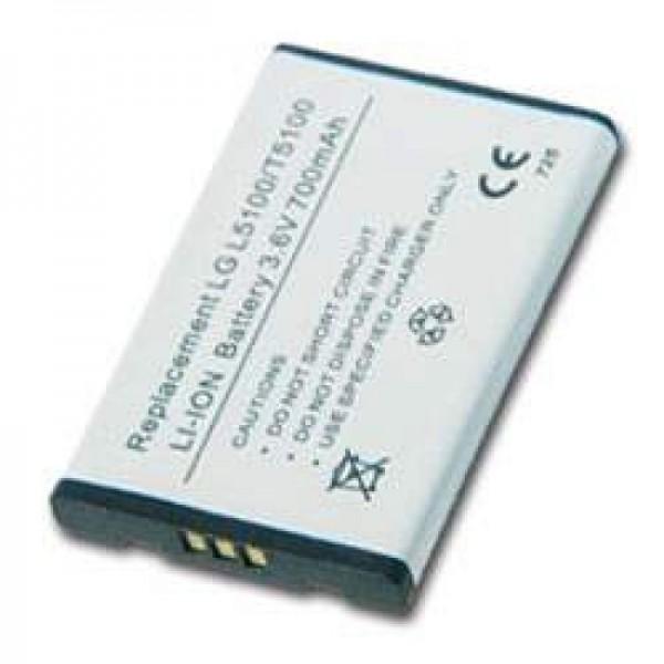 AccuCell-batterij geschikt voor LG L5100, LG T5100, 900mAh