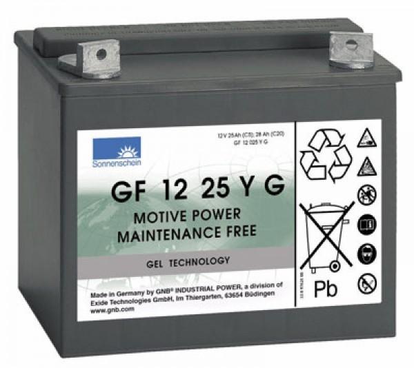 Exide Dryfit-batterij GF 12 25 YG GF12025YG 12 volt 25 Ah voor golfcaddies, enz.