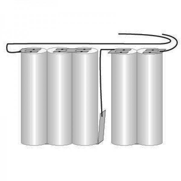 Batterij voor noodverlichting, noodstroomverlichting GI 2-delige Saft VNT CS met kabel