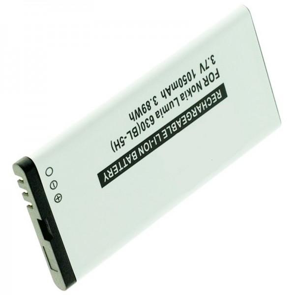 Batterij geschikt voor de Nokia Lumia 630 batterij, Lumia 635, BL-5H met 1050mAh