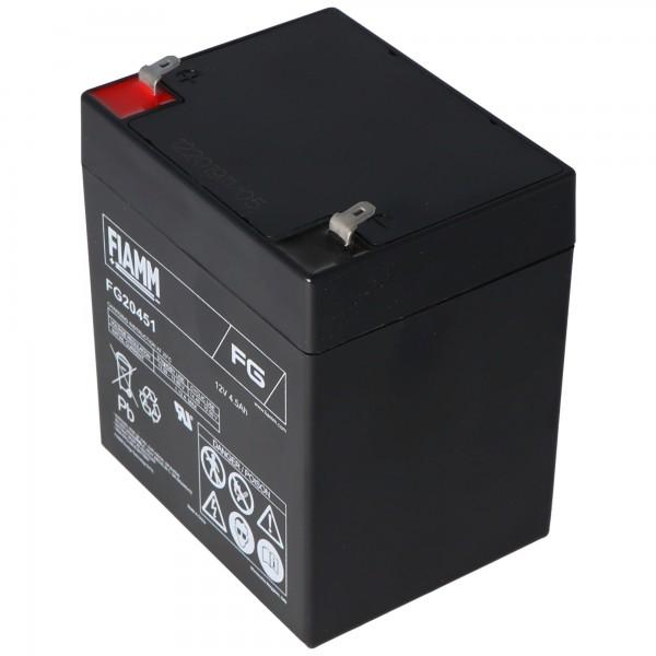 Fiamm FG20451 batterij 4.5Ah 12 volt loodbatterij