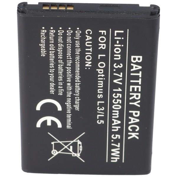 AccuCell-batterij geschikt voor LG Optimus L3, Optimus L3 Dual