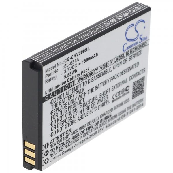 Batterij geschikt voor de CrossCall Shark V2 batterij BL-651A met 1100mAh