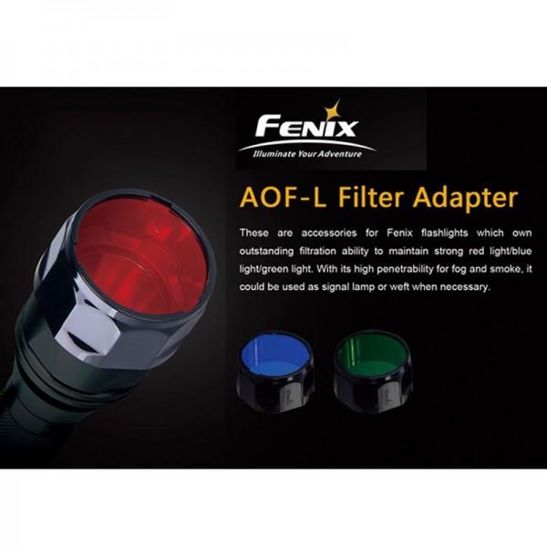 Universeel Fenix Rood filter AOF-L voor Fenix E40, E50, LD41, TK22, PD40, RC20, FD41