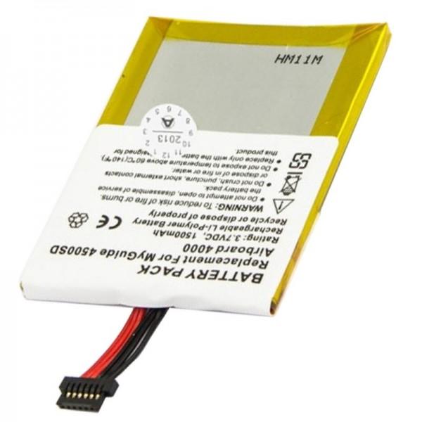AccuCell-batterij geschikt voor Typhoon MyGuide 4000, 1500mAh