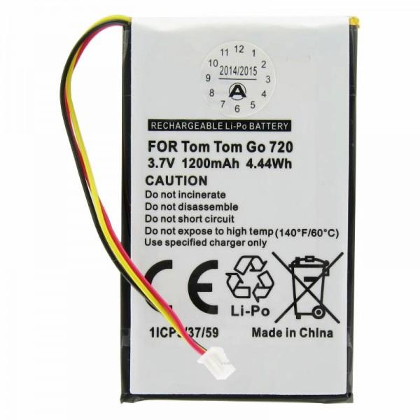 Batterij geschikt voor TomTom Go530, Go630, Go730, 1697461