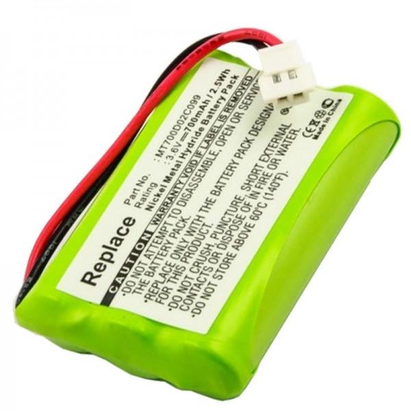 AccuCell-batterij geschikt voor PHILIPS CEPTF BABYFON, babyfone CEPT F