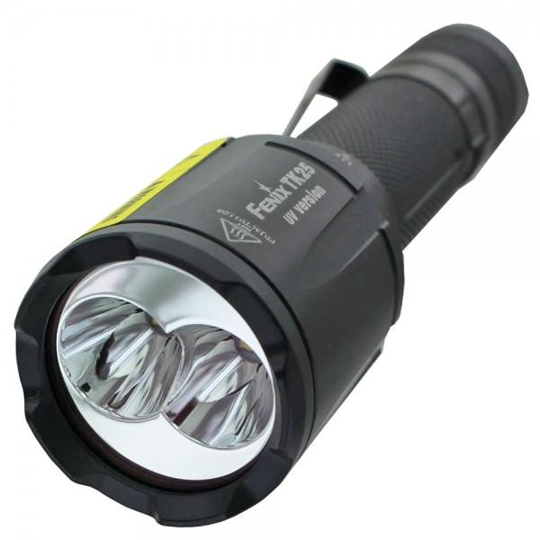 Fenix TK25UV LED-zaklamp met witte LED en UV LED-licht, inclusief 2 CR123A lithiumbatterijen