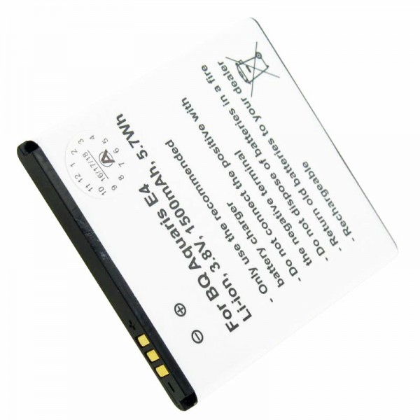 Accu geschikt voor BQ Aquaris E4 B46, BQ 1700 Li-Polymer 3.8 volt 1700mAh