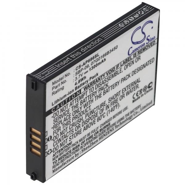 Accu geschikt voor ASUS MyPal A626, SBP-09, 07G0166B3450