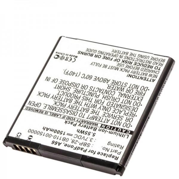 AccuCell-batterij geschikt voor Asus PadFone A66, 0B110-00150000, SBP-28