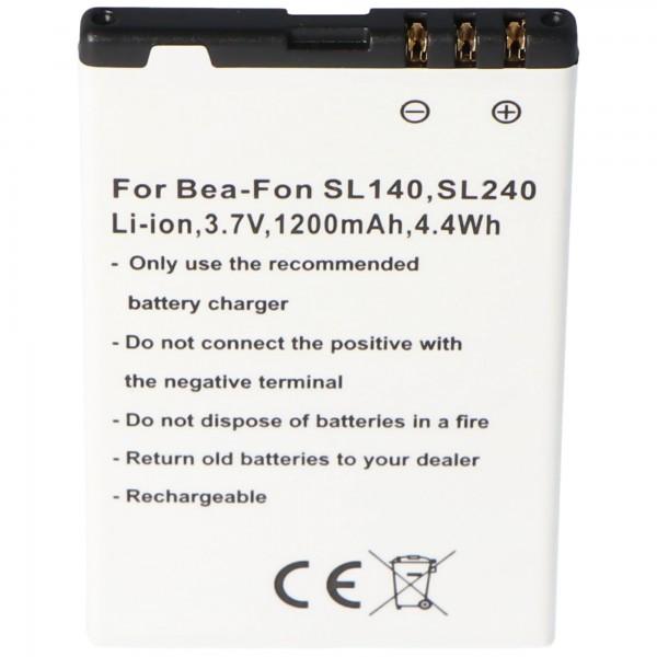 Batterij geschikt voor mobiele telefoon batterij Bea-Fon SL140, SL240 batterij SL140