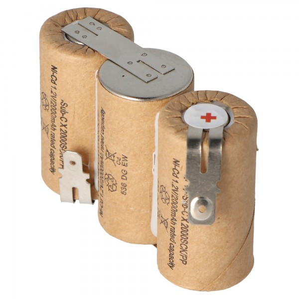 Batterij geschikt voor Gardena ACCU 60 met Faston 6,3 mm en 4,8 mm, 2000 mAh