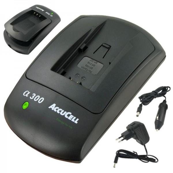 AccuCell-lader geschikt voor Canon BP-709 batterij, BP-718, BP-727, BP-745