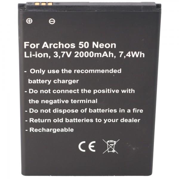 Batterij geschikt voor de Archos AC50NE batterij Archos 50 Neon