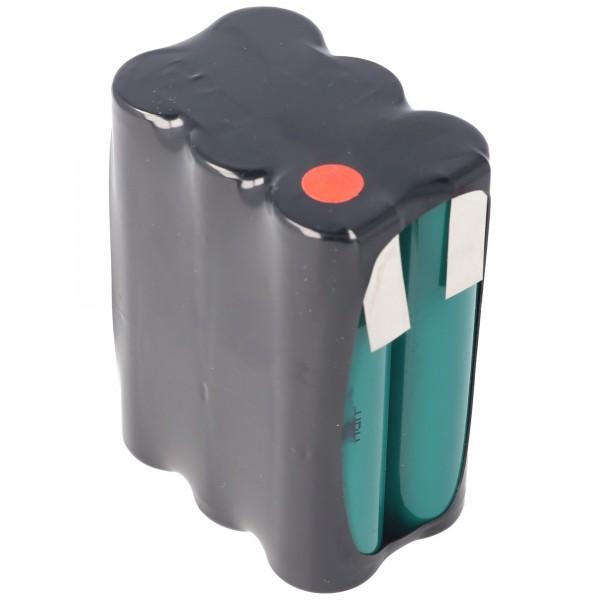 7,2 volt batterij F2x3 opstelling 4000 mAh NiMH HR-4 / 3AU 51 x 17 x 67 mm