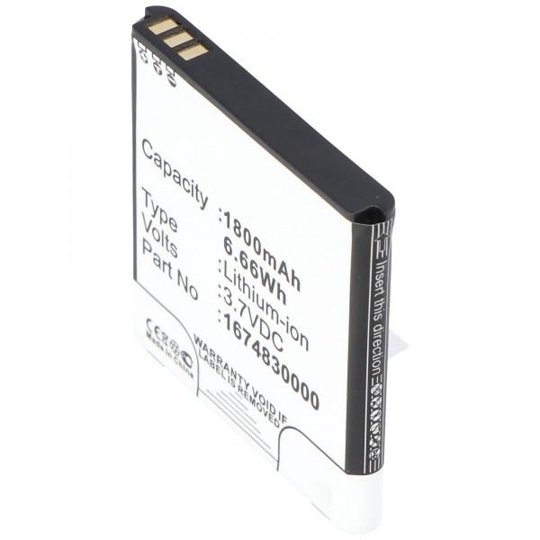Batterij geschikt voor draadloze router TP-Link-batterij TL-MR11U