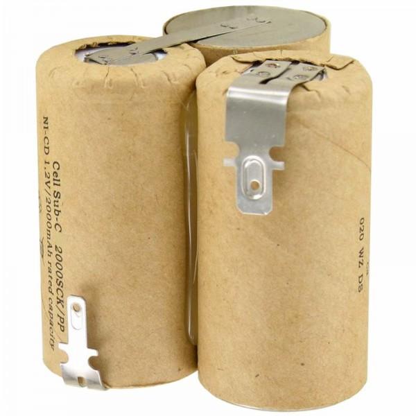 AccuCell-batterij geschikt voor Wolf Accu 60 type 7084680 3,6 volt NiMH-batterij