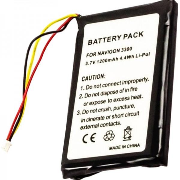 AccuCell-batterij geschikt voor Navigon 3300, 3310, 3310 MAXE, 4310,