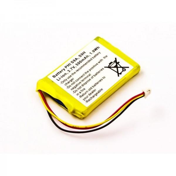 AccuCell-batterij geschikt voor Grundig D780-batterij D780A, SL-422943, PH422943
