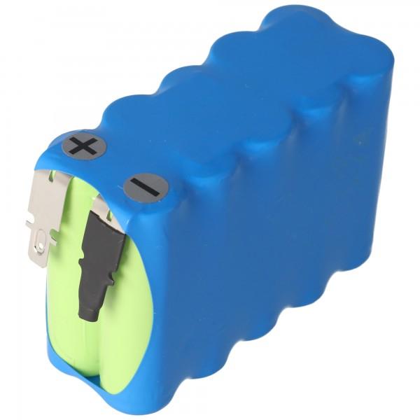 Batterij voor automatische deuren 12 volt 900 mAh Ni met 4,8 mm stekkercontacten
