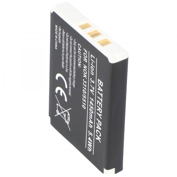 AccuCell-batterij geschikt voor Nokia 3330-batterij met 1450mAh
