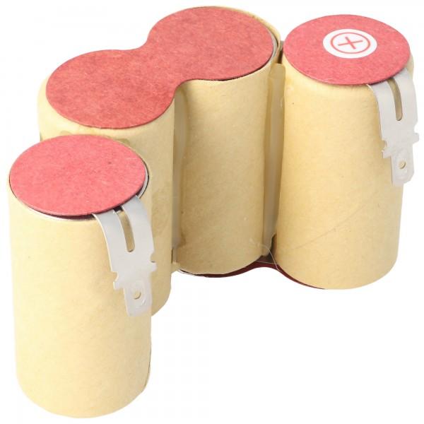 AccuCell-batterij geschikt voor stofzuigers, handstofzuiger 4,8 volt