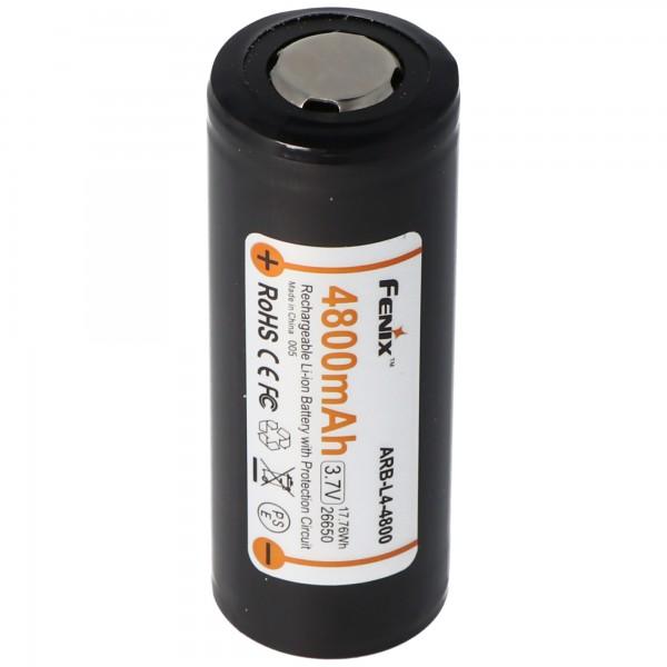 Fenix ARB-L4-4800 26650 Li-ionbatterij beschermd 3,7 volt met 4800 mAh