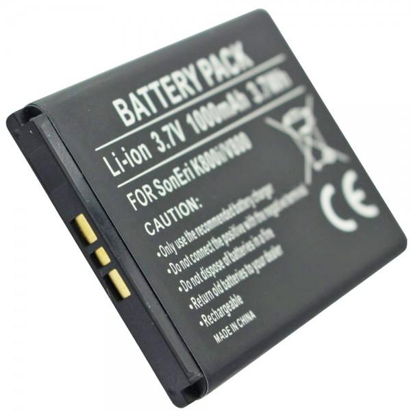 AccuCell-batterij geschikt voor Sony Ericsson P1i Li-ion-batterij