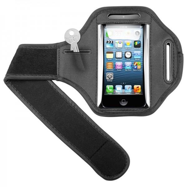 Sporttas geschikt voor uw Apple iPhone 5, 5C, 5S met klittenband voor joggen en fitness