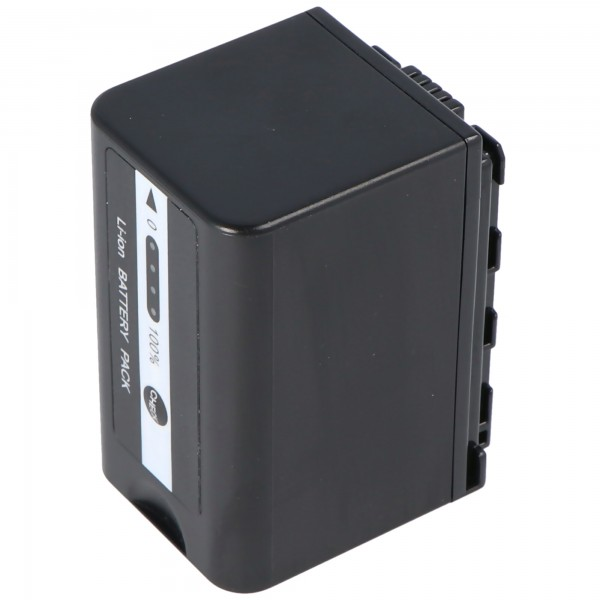 VW-VBD58 batterij voor Panasonic HC-X1000 met batterijniveau-indicator VW-VBD58