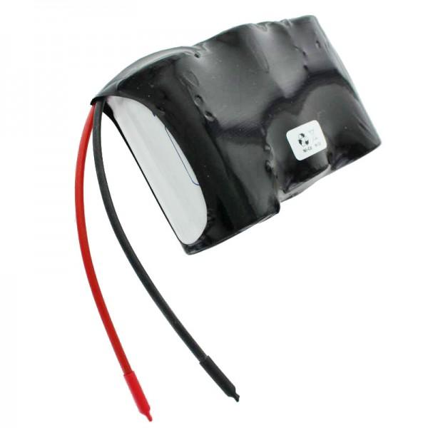 Batterij voor noodstroomverlichting, 3,6 volt 4000 mAh, afmetingen ca. 96,9 mm x 32,3 mm x 60,3 mm