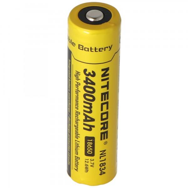 NiteCore Li-ionbatterij 18650 - 3400 mAh, 3,7 V - NL189