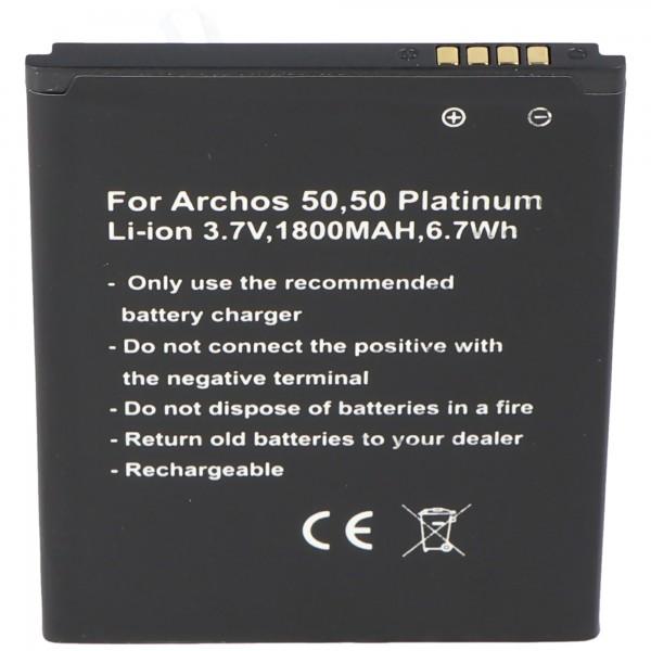 Batterij alleen geschikt voor de Archos 50, 50 Platinum-batterij AC50PL