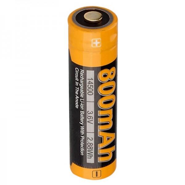 Li-ionbatterij 14500 Mignon AA 3,6 volt met beschermende elektronica Fenix ARB-L14-800, 800mAh
