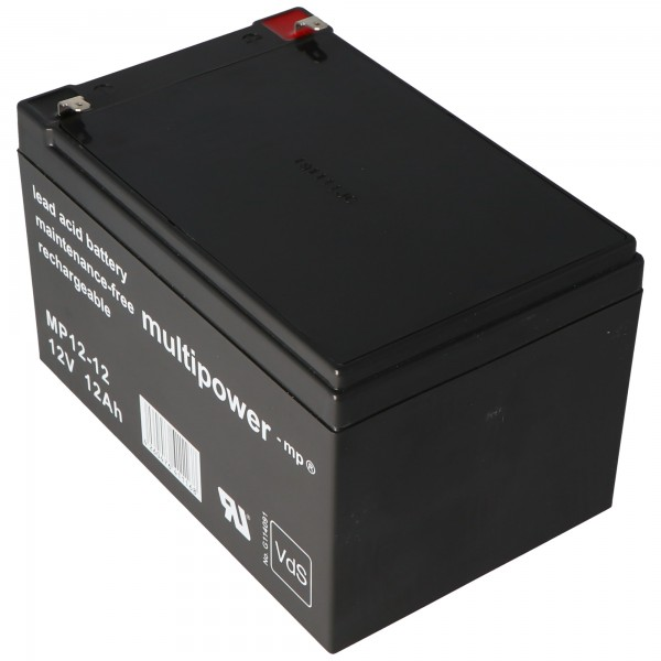 Multipower MP12-12 loodbatterij 12 volt 12Ah