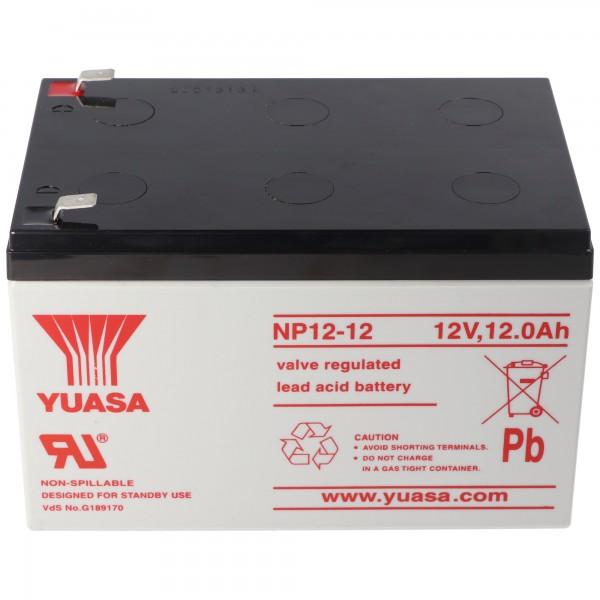 YUASA NP12-12 accukabel PB 12 volt 12000 mAh