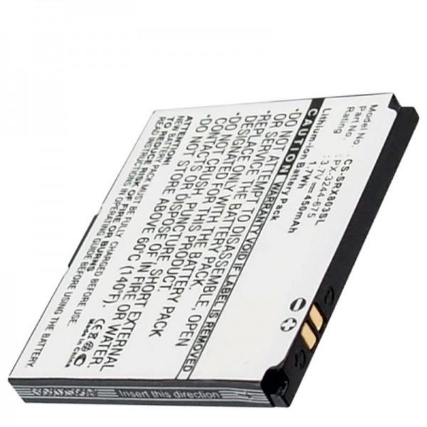 Accu geschikt voor de Simvalley Pico RX-80, RX-180 mobiele telefoon batterij BILD-Mini-Handy
