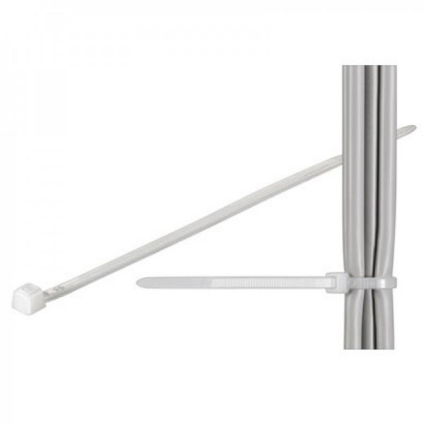 Kabelbinder standaard, transparante lengte 380 mm, breedte 7,6 mm