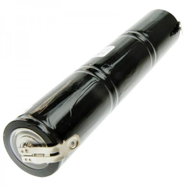 Batterij voor noodstroomverlichting, 3,6 volt noodverlichting, 4000 mAh met 6,3 mm en 4,8 mm contact