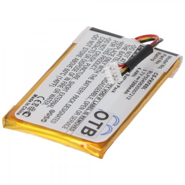 AccuCell-batterij geschikt voor Falk F5, F8, F10, F12, BLP5040835007212, opmerking met 4-pins connector